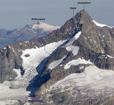 Rothorngrat depuis la Rothornhütte