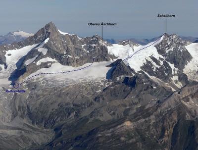 Schalihorn depuis la Rothornhütte