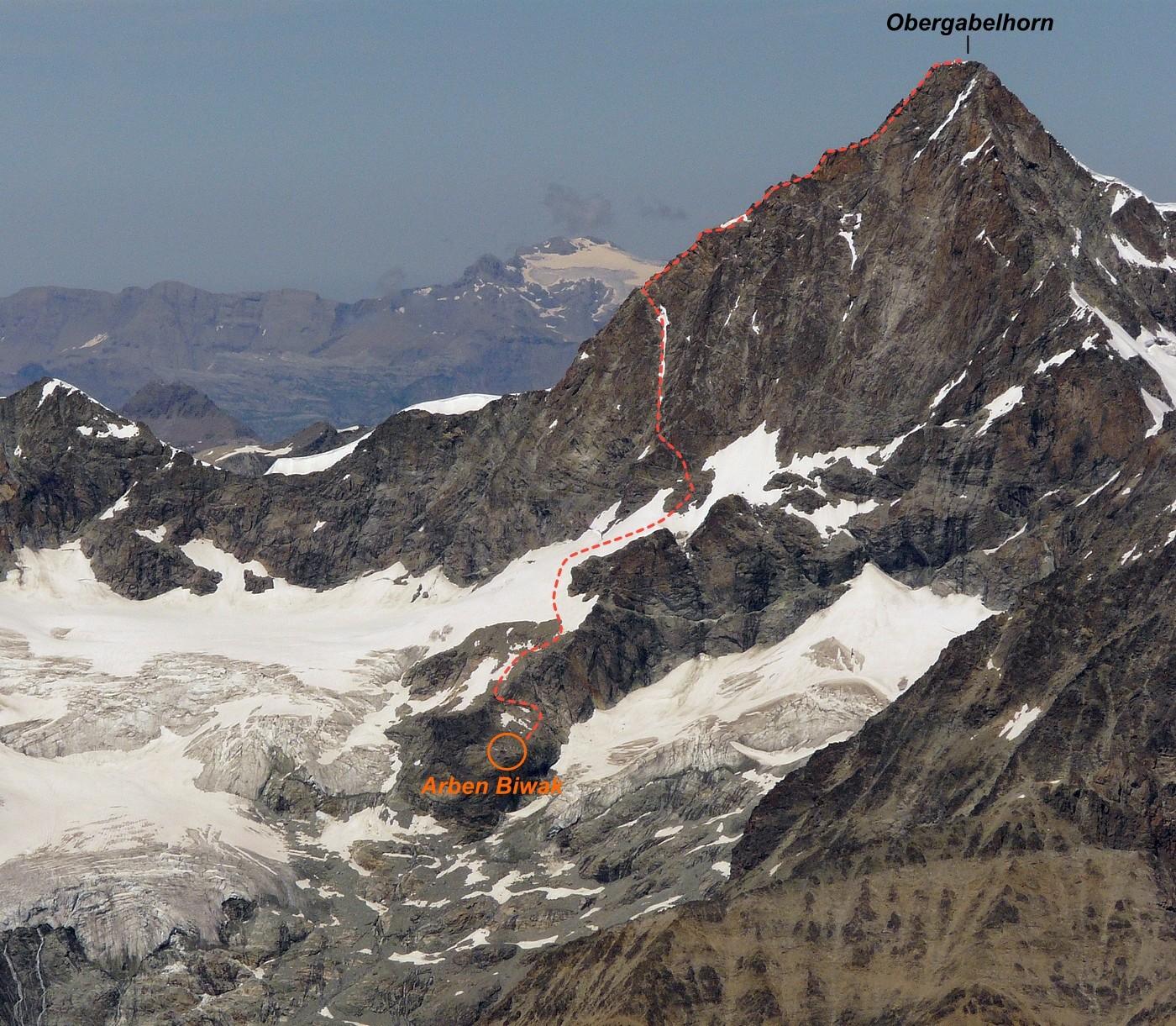 Ober Gabelhorn - Arbengrat
