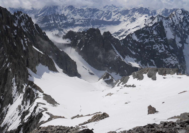 Glacier du jocelme, vue du sommet