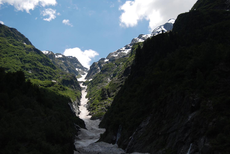 Il Canalone della Malgina da circa 1350 m