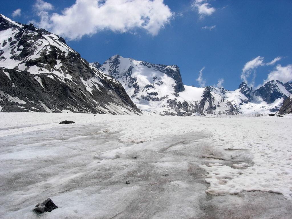 la Cima di Rosso dal ghiacciaio del Forno