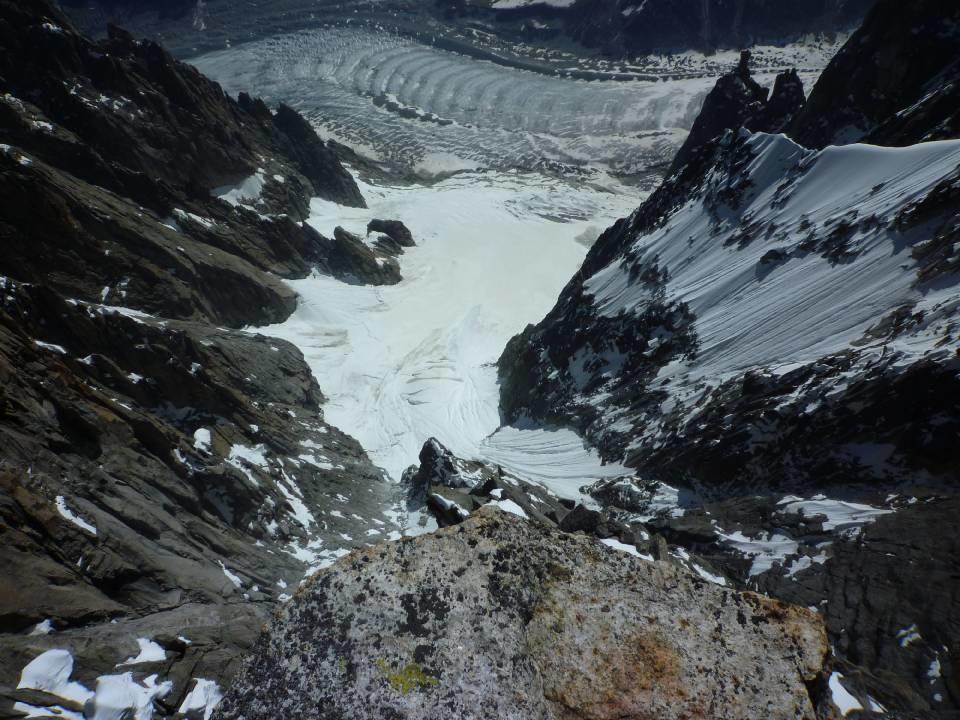 Etat du glacier de l'envers de Blaitiére26/06/2010