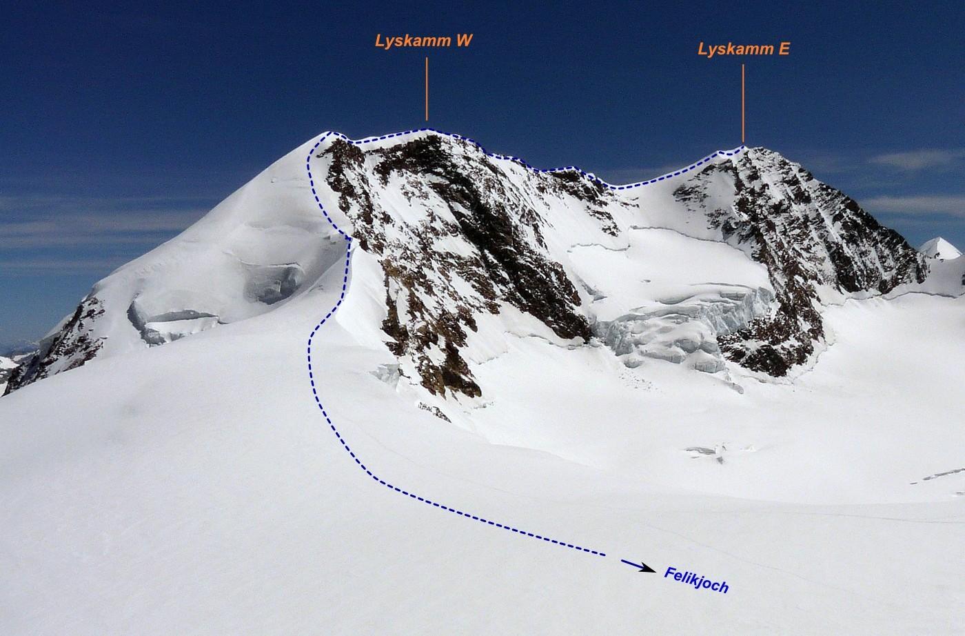 Lyskamm - traversée