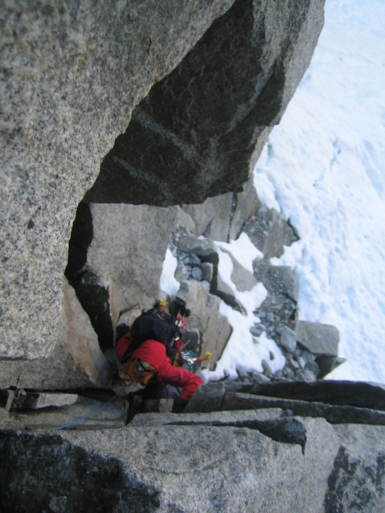 50 m d'escalade avant le couloir