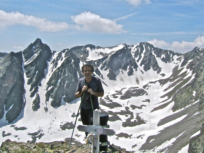 Moi au sommet de Becco Alto del Piz et le Ténibre en fond.