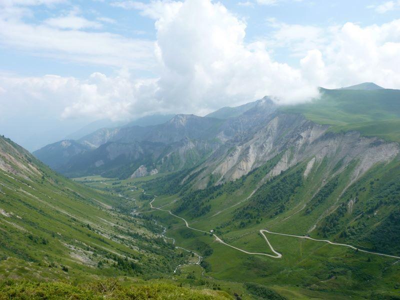 La route du col du Glandon côté Maurienne