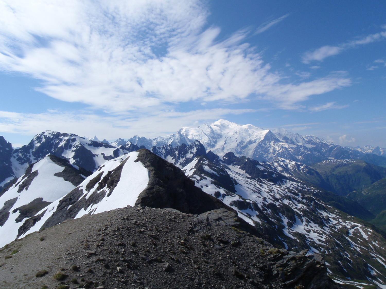 Vue sur massif du Mont Blanc