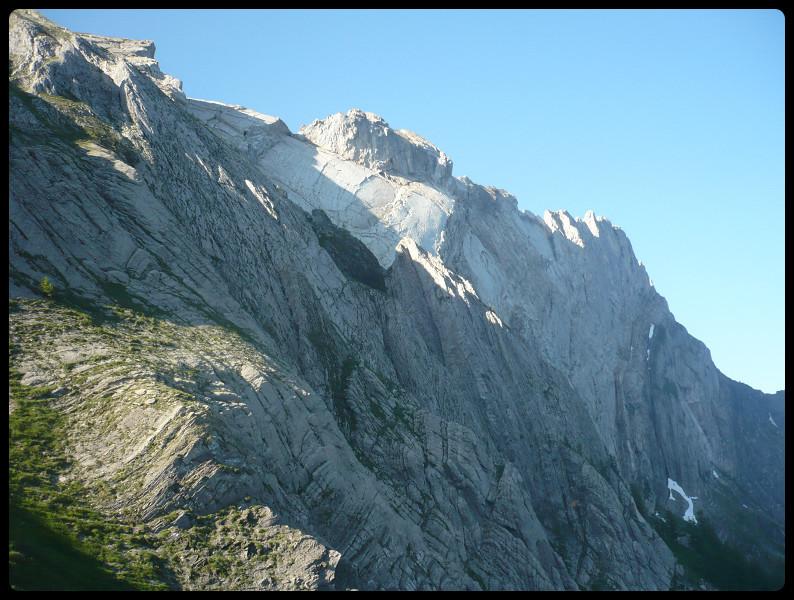 Une bonne partie de l'arête par l'accès direct au Col de la Poreyrette