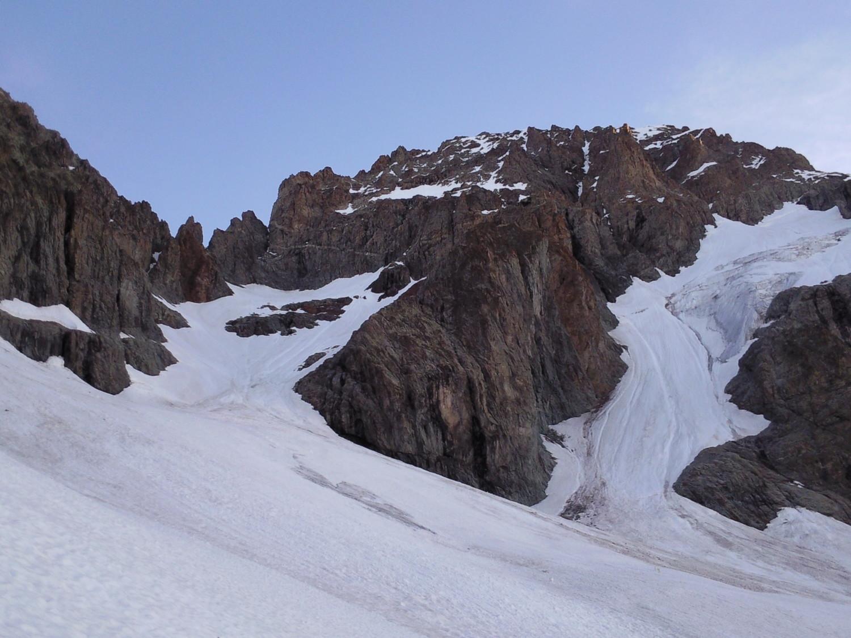 le bas des glaciers de l'Ailefroide