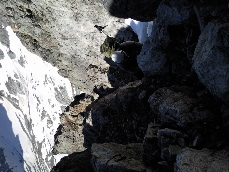 Voilà le type de grimpe que l'on rencontre le plus souvent des marches, encore des marches!