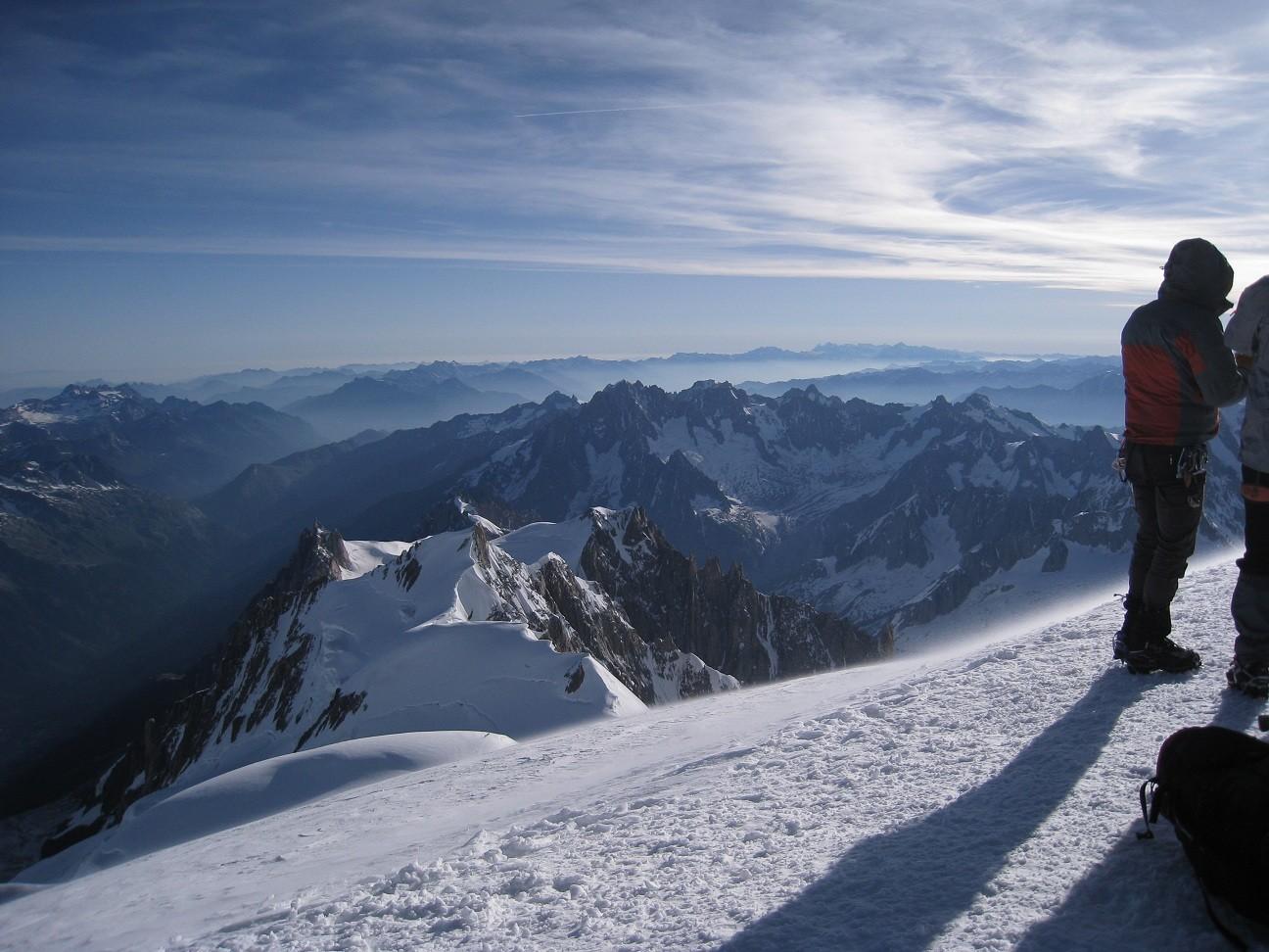 Mt Blanc - vue depuis le sommet