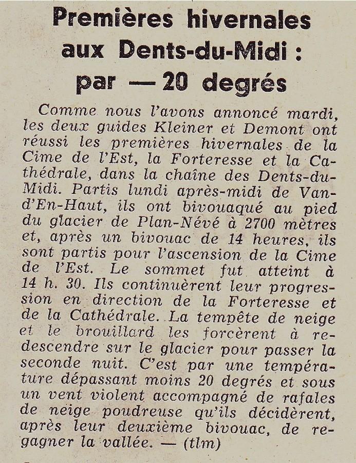 Tribune de Lausanne Le Matin du 25 décembre 1970 ou les souvenirs qui vous rafraîchissent