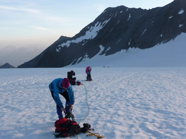 Ried Glacier at dawn looking back
