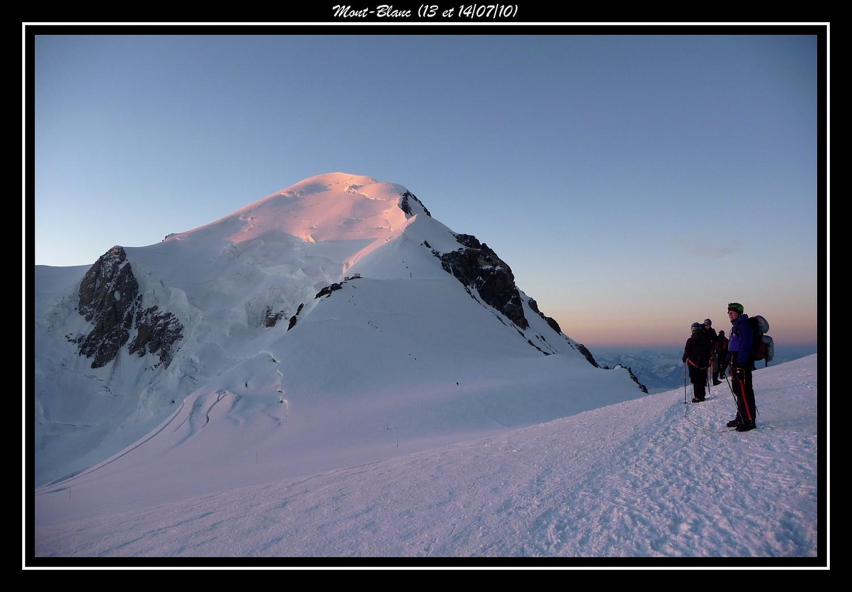 Premiers rayons sur le Mont-Blanc