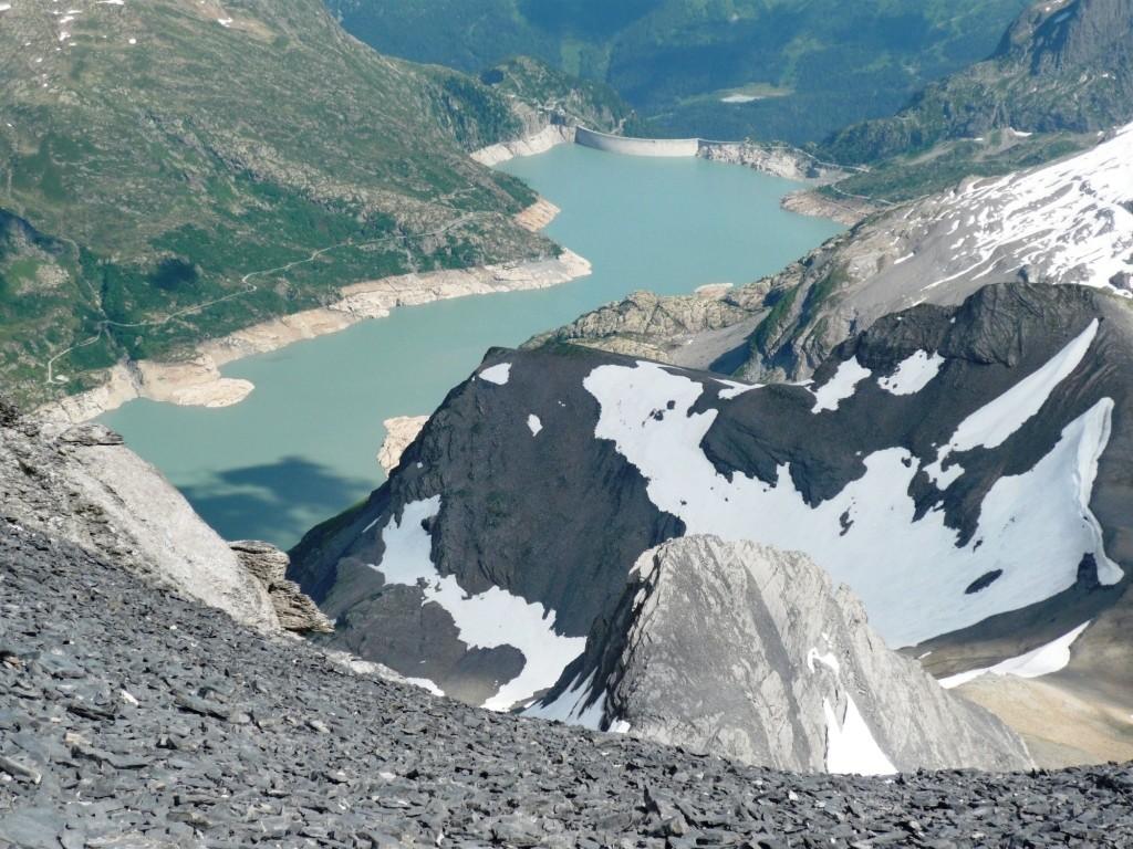 Lac d'Emosson et glacier des Rosses