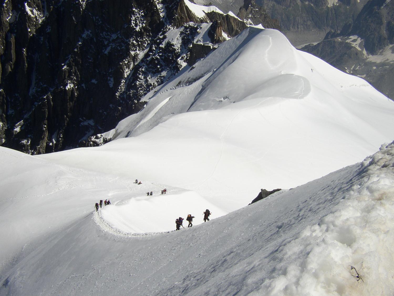 montée aiguille du Midi