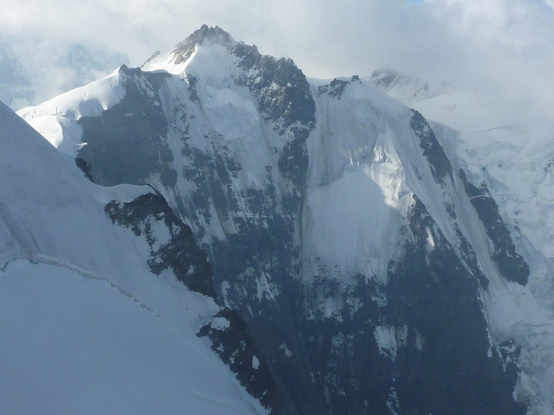 Face nord de l'Abneflue depuis le Rottalsattel de la Jungfrau