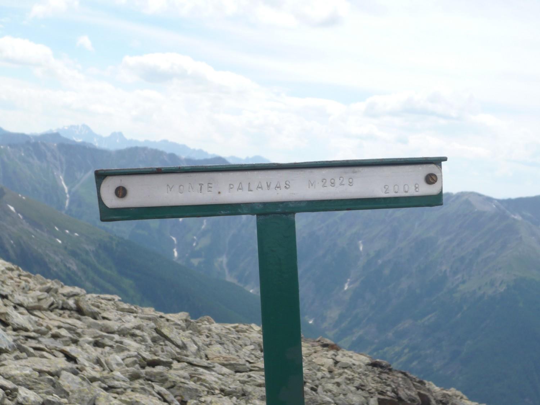 la pancarte italienne du sommet