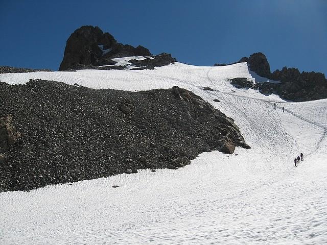 Col de la Girose : Du col, vue sur l'arête W du Râteau W