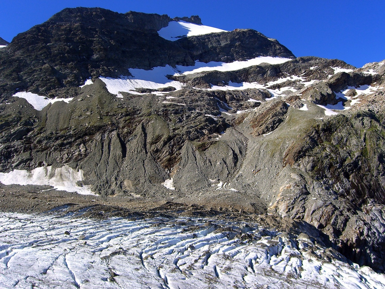 Tondu-le glacier, la combe, le col des chasseurs et le profil de l'iti.