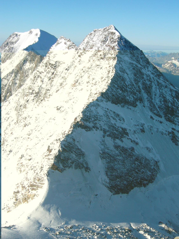 Arête NNW du Lagginhorn en neige...