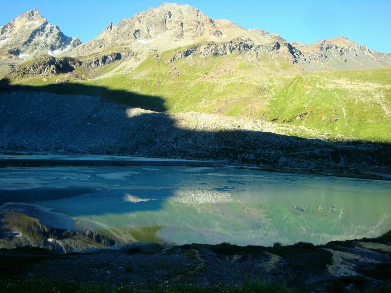 Sortie du glacier de Moiry