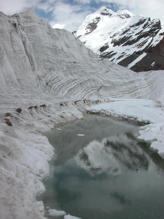 Lac et vallée glaciaire sur le sviodochka, cinquième jour