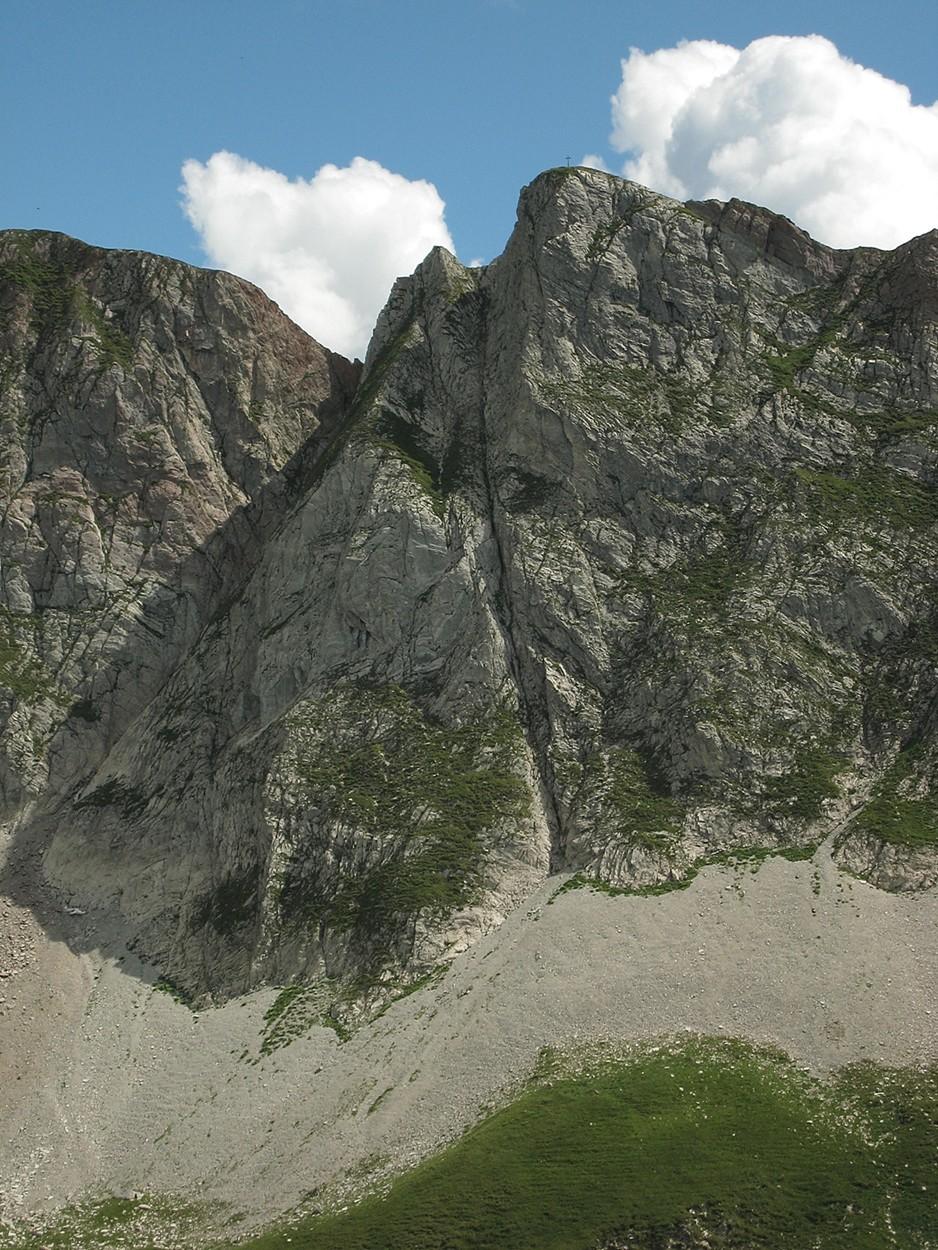 face N du Schafberg (au-dessus de Jaun)