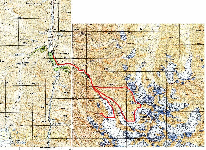 Itinéraire Uchitiel-Baichechekei-Bokc