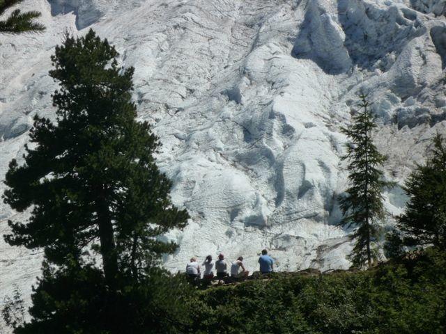 glacier des Bosson au niveau du chalet des Pyramides