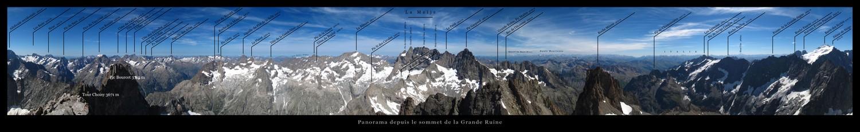 Panorama depuis le sommet de la Grande Ruine