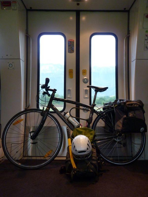 Dans le train de retour d'Albertville à Grenoble