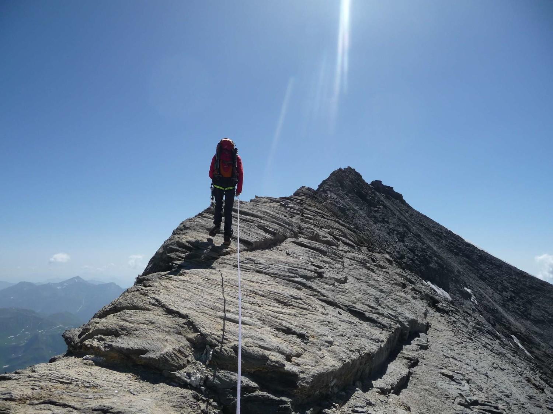 arête faitière à deux pas du sommet