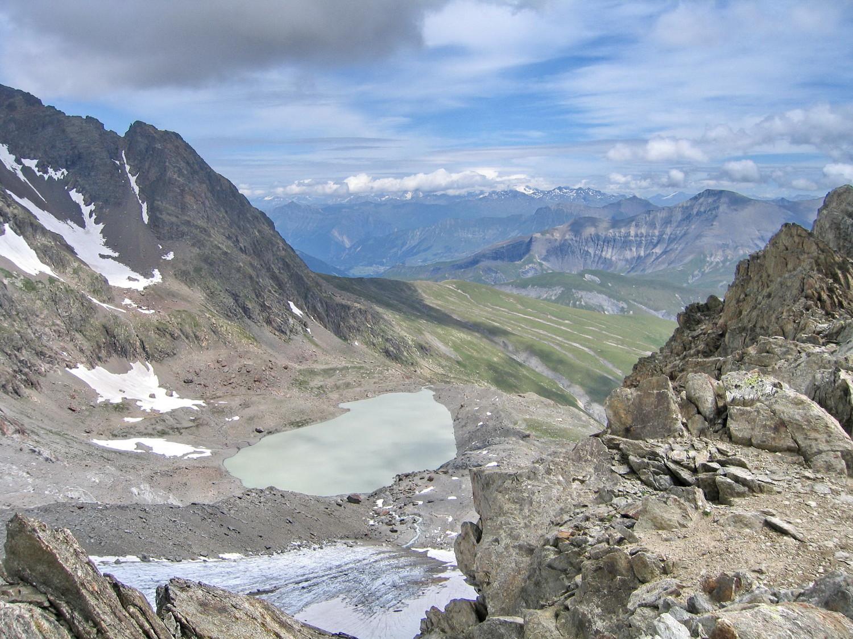 le lac des quirlies, de l'arête