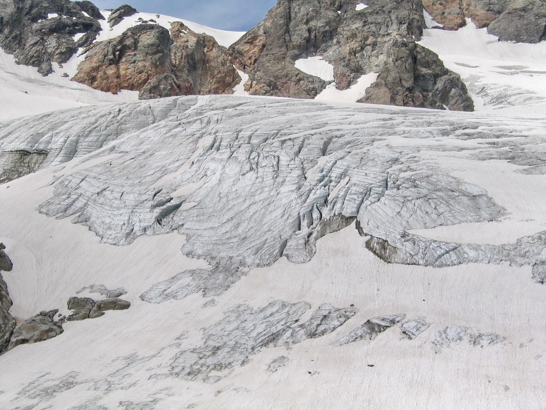 le front du glacier des Malatres