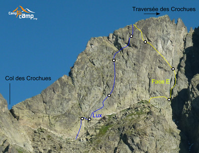 Crochues, E face and Lux route