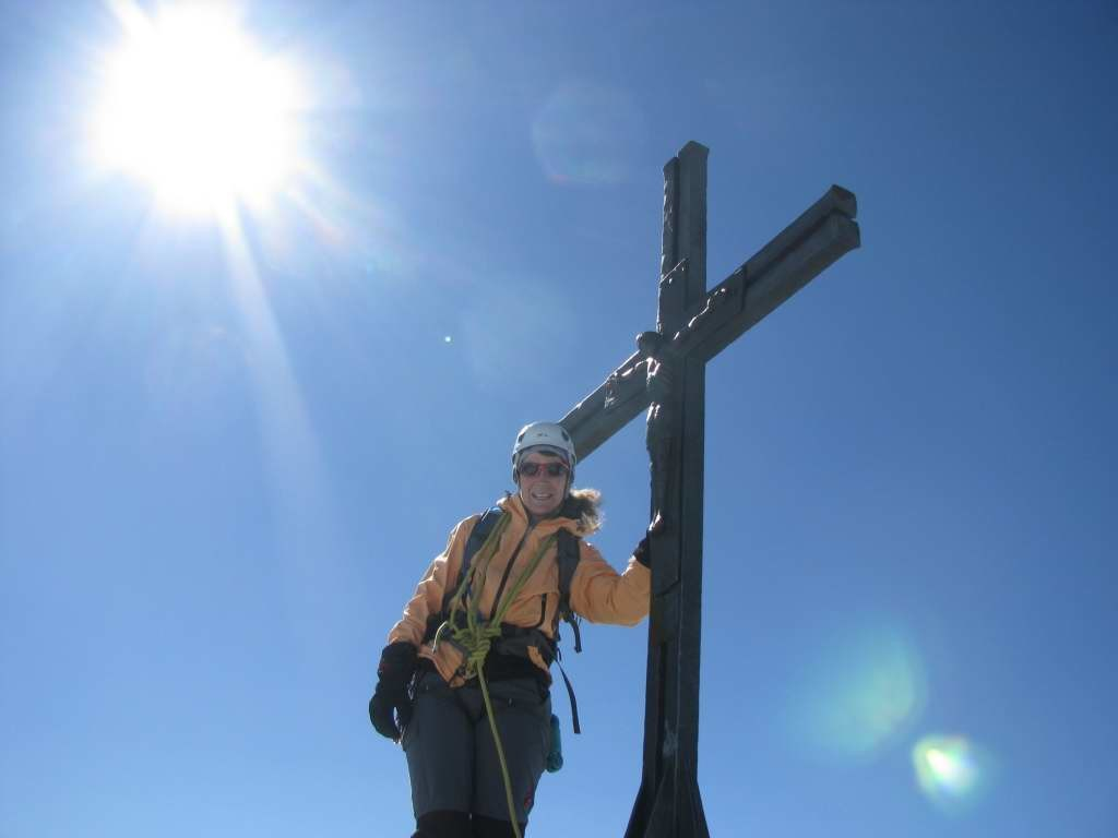 Allain, croix sommitale et moi!