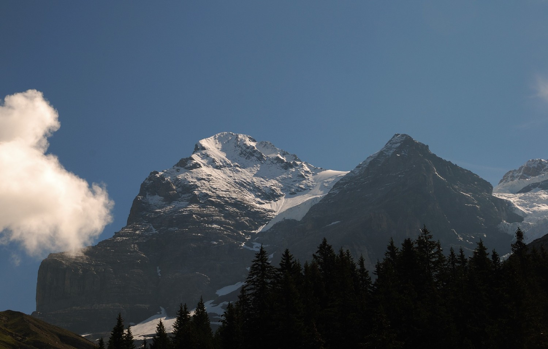 Face W de l'Eiger vue de Biglenalp
