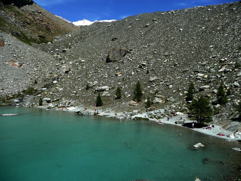 Lac Bleu (Val d'Ayas), montée au Rifugio Lambronecca,