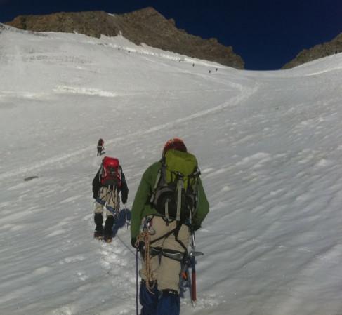 Glacier très pratiquable encore
