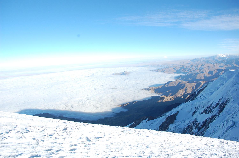 Sous le sommet environ 6300m, vers La Paz