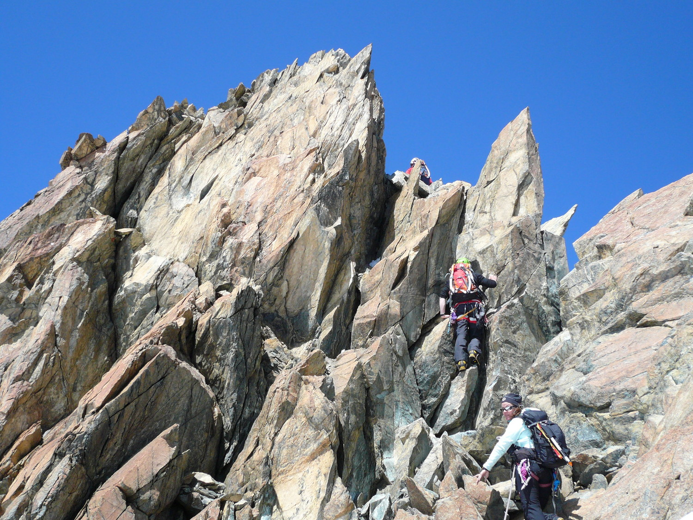 Dernière partie en rocher avant le sommet du B. central