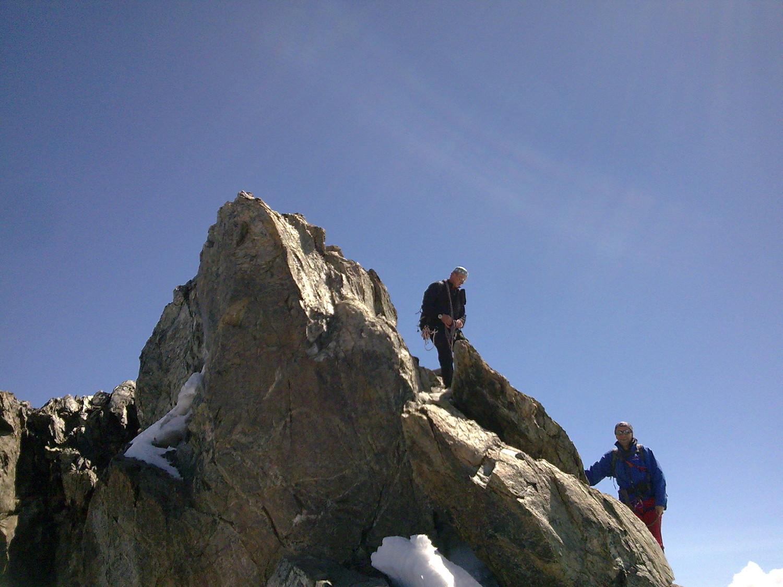 Alain et Olivier au sommet du Breithorn central