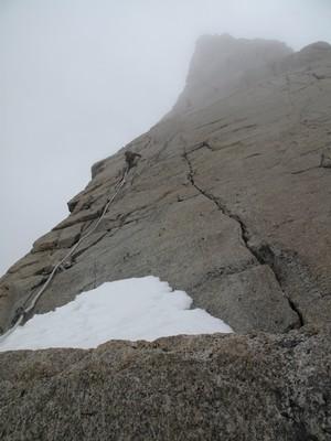 Dent du géant : Les dalles à réglettes