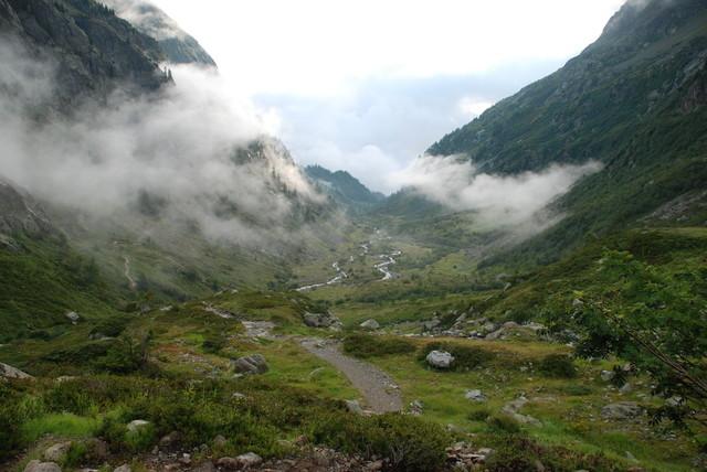 Vallon de Bérard dans la brume matinale...