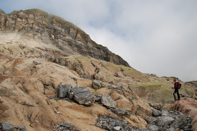 Montée au Buet, entre le refuge et le Col de Salenton