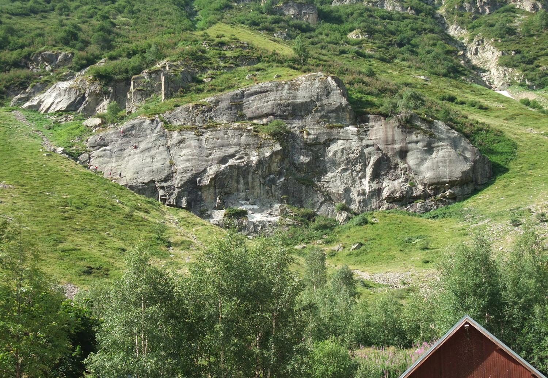 La Grande Aiguille, vue du camping