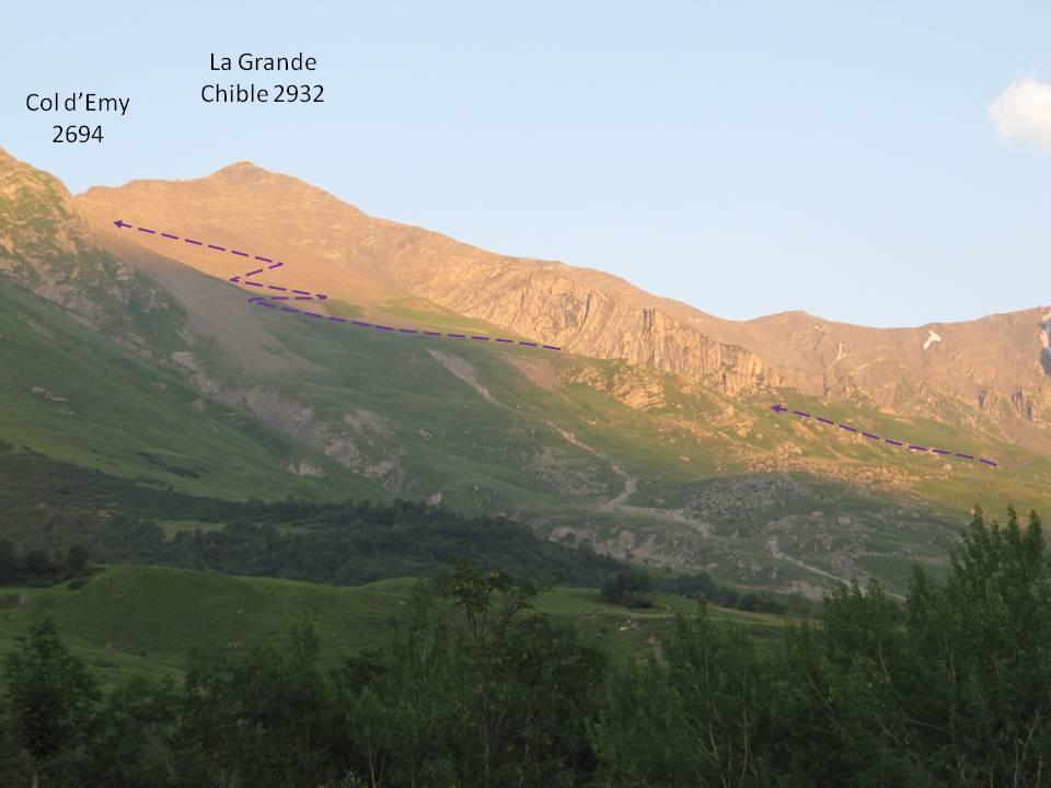 Impression générale de l'itinéraire - vue depuis gîte de la Vilette