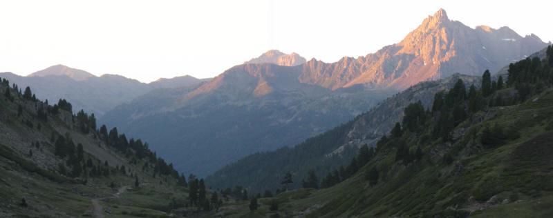 panorama matinal vers le Sud depuis les Drayères